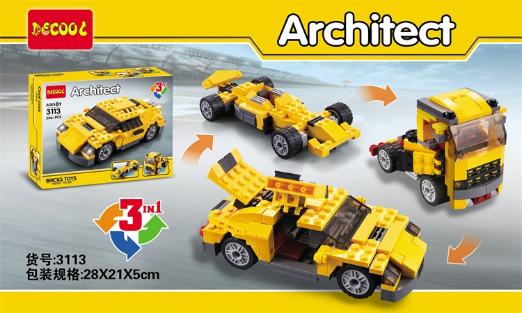 Decool 3113 Architect Series Racing 3 in 1 Model Building Blocks Toys For Children Minifigures Toys Compatible Legoe<br><br>Aliexpress