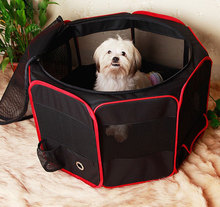 Portable Folding Pet tent Dog House Cage Cat Tent Kennel Easy Operation Octagonal Fence outdoor supplies