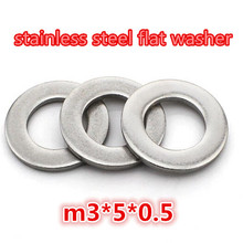1000pcs high quality 304 stainless steel m3 flat washer/plain washer/shim washer 3.15*5.05*0.5