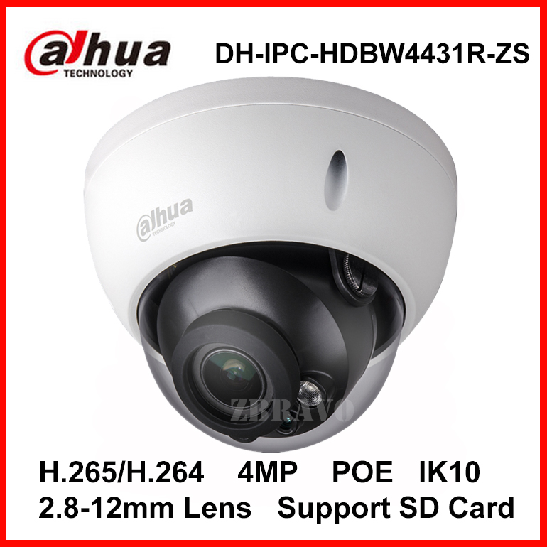 Dahua Webcam H.265 IPC-HDBW4431R-ZS IP Camera 2.8-12mm Varifocal Motorized Lens 4MP IR 50M with SD Card Slot POE Network Camera<br><br>Aliexpress