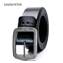Leather Belt Men Cowhide Designer Classic Men Belts Leather Original Men Luxury Strap Male Belts Leather Belt Men Black Color(China)