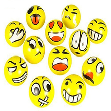 12Pcs/Pack Funny Emoji Faces Squeeze Ball Anti Stress Hand Wrist Finger Exercise Stress Relief Toy Balls For Kids Children