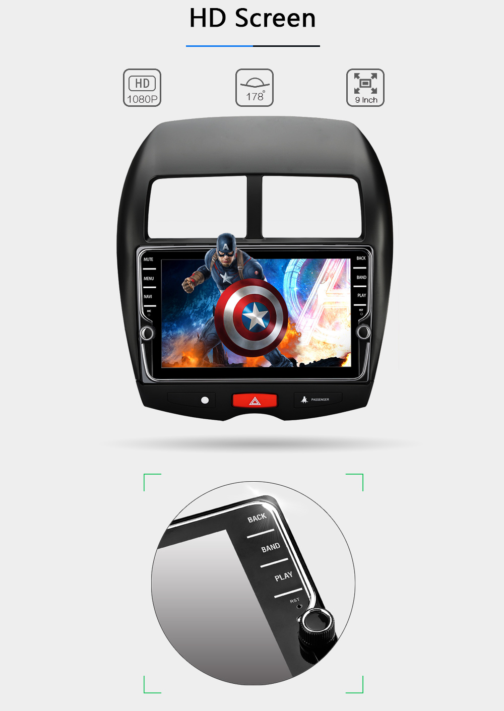 SilverStrong 7\'\' OctaCore RAM 4G ROM32G Android 8.0 Car DVD GPS Player Navi for Mitsubishi Outlander ASX 2013-2016 full toucreen