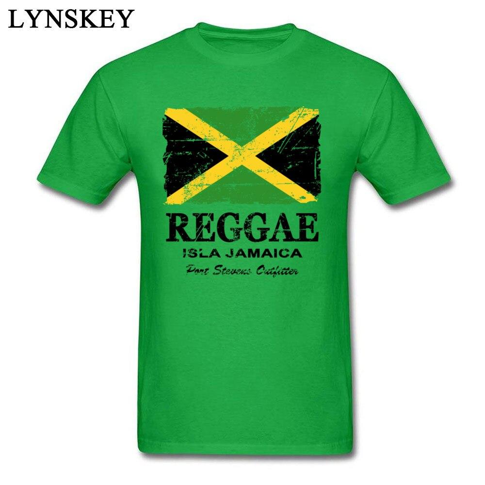 T-Shirt Normal Short Sleeve Funny Crew Neck 100% Cotton Tops T Shirt Group Summer Fall Reggae Jamaica Flag Tee Shirt for Boys Reggae Jamaica Flag green