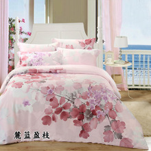 2017 new arrival 100% Tencel natural silk floral Spring summer 4pcs bedding set  bedspread comforter cover bed sheet set/3090