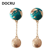free shipping fashion women New Jewelry wholesale Planet Earth Universe Ocean Female Earrings Exquisite accessories