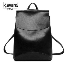 2016 Design PU Leather Backpack Women Backpacks For Teenage Girls School Bags Black Summer Brand Vintage Backpack Mochilas Mujer(China)