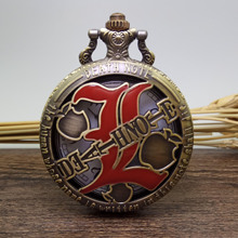 BIG Death Note Full Hunter Design Pocket Watch Number Dial Necklace Chain Best Gift(China)