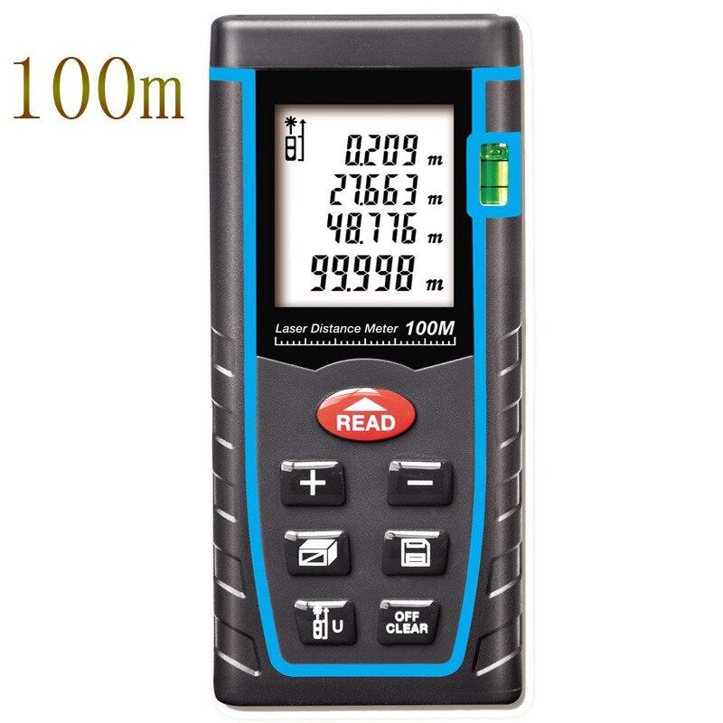 Laser Distance Meter 40M 60M 80M 100M Laser Rangefinder Range Finder Digital Laser Tape Measure Area/volume Angel M/Ft/in Tool<br><br>Aliexpress