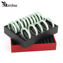 Free Shipping Mordoa Double Row 20 Position Bracelet Jade Bracelet Jewelry Packaging Tray Display Props Receive Case Wholesale(China)