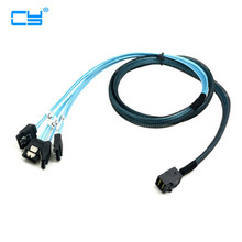 50cm/100cm Internal Mini SAS SFF-8643 Host to 4 SATA 7pin Target Hard Disk 6Gbps Data Server Raid Cable
