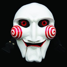 Movie SAW Cartoons Horror Resin Mask Masquerade Cosplay Halloween Party Full Face Masks(China)