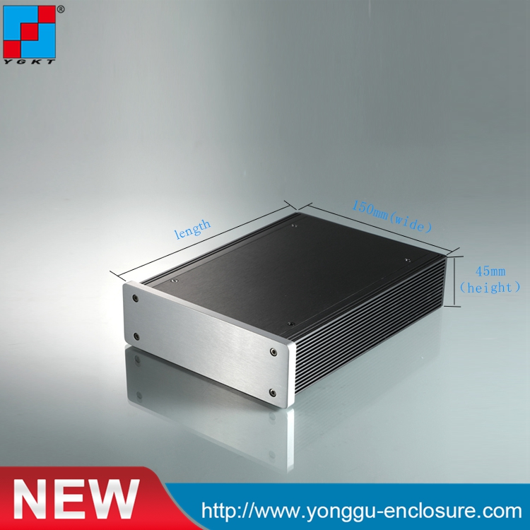 150*45*200 mm (w*h*l) Assembled aluminum chassis body / meter aluminum chassis housing / industrial chassis housing<br>