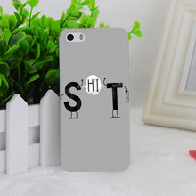 A1522 S Says Hi To T Funny Transparent Hard Thin Case Cover For Apple iPhone 4 4S 5 5S SE 5C 6 6S 6Plus 6s Plus