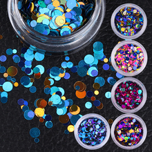 1 Box Colorful Shiny Round 1mm 2mm 3mm Ultrathin Sequins Nail Art Glitter Tips Manicure UV Gel 3D Nail Decoration