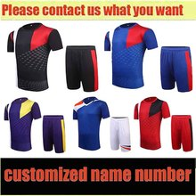 Free shipping 2016 17 Newest Men's Soccer Jerseys Football Kits customized name number logo Adult Suits 4 Colors Sports Training