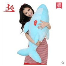 stuffed animal large 90cm pink or blue dolphin plush toy ,birthday Gift w9698(China)