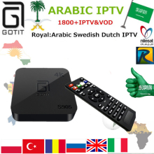 Buy GOTiT Swedish IPTV S905 4K UHD Smart Arabic Android TV box 1850+Royal Europe Persian IPTV Dutch Kurdish TV & VOD Set Top Box for $90.09 in AliExpress store