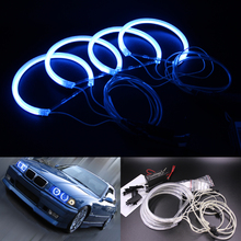 Super Bright Blue Halo Rings for BMW E36 E38 E39 E46 CCFL Angel Eyes Kit with 4 ccfl angel rings and 2 ccfl inverter
