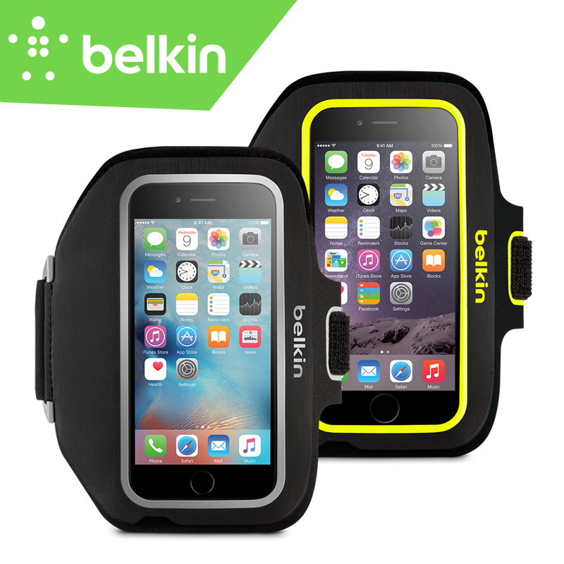 "Belkin Premium Sport-Fit Plus Jogging GYM Armband Hand-washable Case for iPhone 6/6s Plus 5.5"" with Key Pocket F8W625(China (Mainland))"
