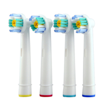 4 Pcs/set Electric Toothbrush Heads EB-18A Replacement for Oral Dual Clean Pro care Electric Toothbrush Heads