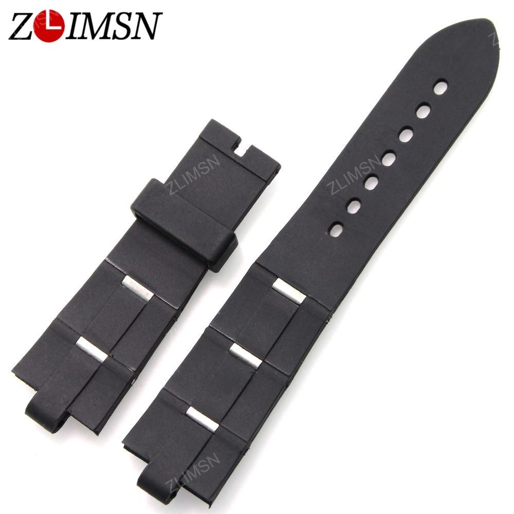 Black Silicone Strap 22mm 24mm Watchbands 10 PCS/set Wholesale Rubber Bracelet Wristwatch Rubber Watchband Relojes Hombre BVL101<br><br>Aliexpress