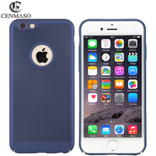 Buy Cenmaso Iphone7 APPLE7 Slim Heat Dissipation Design Cover Case Apple IPhone 7 Anti fingerprint Shockproof Hard PC Shell for $4.25 in AliExpress store