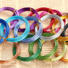 Free Shipping! 5m/roll 2mm Diameter colored aluminum wire for Metal Crafts(China)