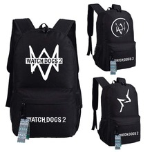 New watch dogs 2 Backpack Anime oxford Schoolbags Unisex Travel Bag