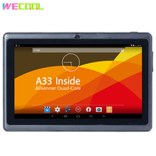 7 inch WeCool Q88 HD Screen Tablet PC Allwinner A33 Quad Core CPU Android 4.4 OS 8GB Memory Dual Cameras Super TFT WIFI MID(Hong Kong,China)