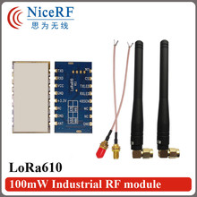 2pcs/lot Lora610 5000 meters long range 433MHz TTL Interface high Sensitivity -139 dBm uart wireless module with Rubber antenna(China)