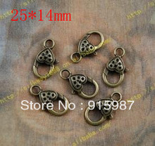 Sweet Bell 50PCS/lot 25*14mm lobster clasp, buckle bags buckle design restoring ancient ways lobster clasp accessories