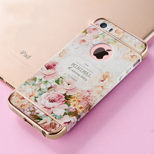 3D Embossed Printing Hard Case For iPhone 5s SE Luxury Floral Flower Cover For Apple iPhone 5 SE