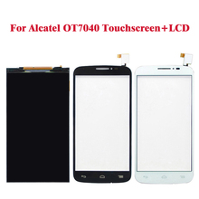 Black White LCD Display For Alcatel one touch pop C7 7040 OT7040 7041 +Touch Screen Digitizer Assembly Replacement(China)
