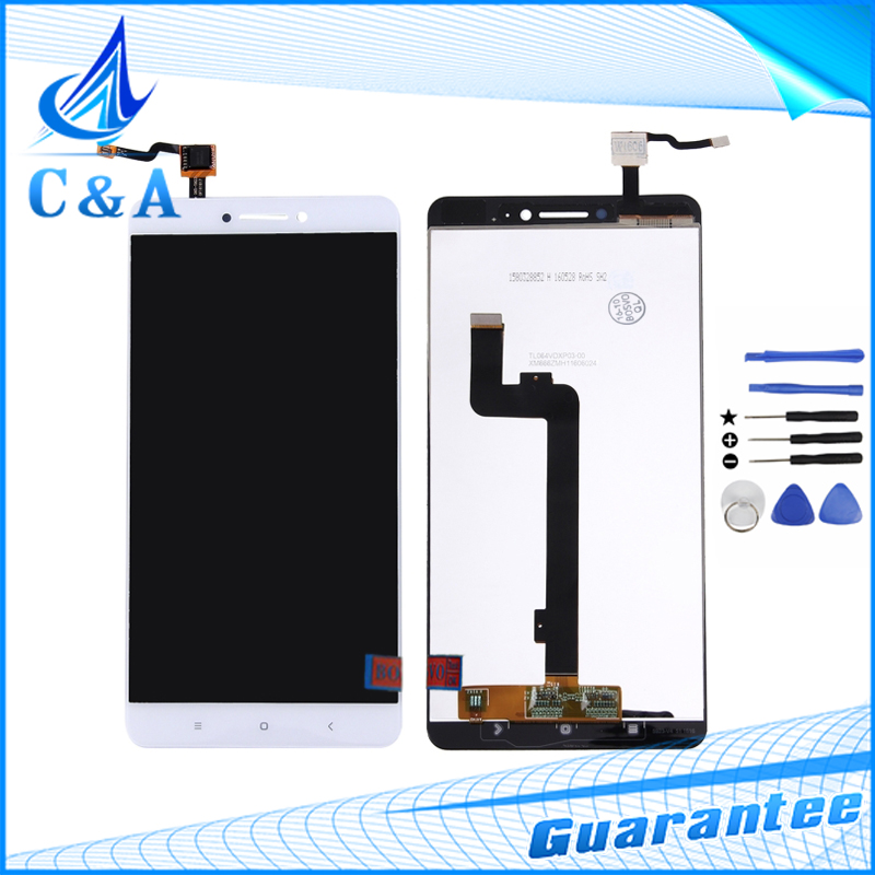 High Quality New White Repair Parts For Xiaomi Mi Max LCD Display with Touch Screen Digitizer Cell phone Assembly +Free Tools<br><br>Aliexpress