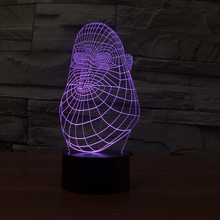 hotsale 3D Acrylic abstract moulding illusion LED Lamp USB Table Light Night Light Romantic custom night light(China)