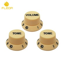 FLEOR 30PCS/Pack Tone Volume Knobs 2T1V Guitar Speed Control Knobs Strat For Electric Guitar Guitarra Replacement Parts(China)