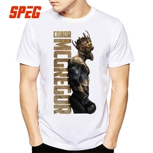 SPEG The King Of Conor Mcgregor MMA T Shirt Men Short Sleeve Tops Pure Cortton Tee Round Neck Digital Print Clothes Male Vintage