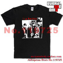 The Smiths Alternative rock Band Four Face 100% Cotton T-shirt Tee T Cloth