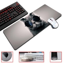 Super Locking Edge large Game Mouse Pad Glasses Cool Cat high quality DIY pictures super big size computer game tablet mouse pad