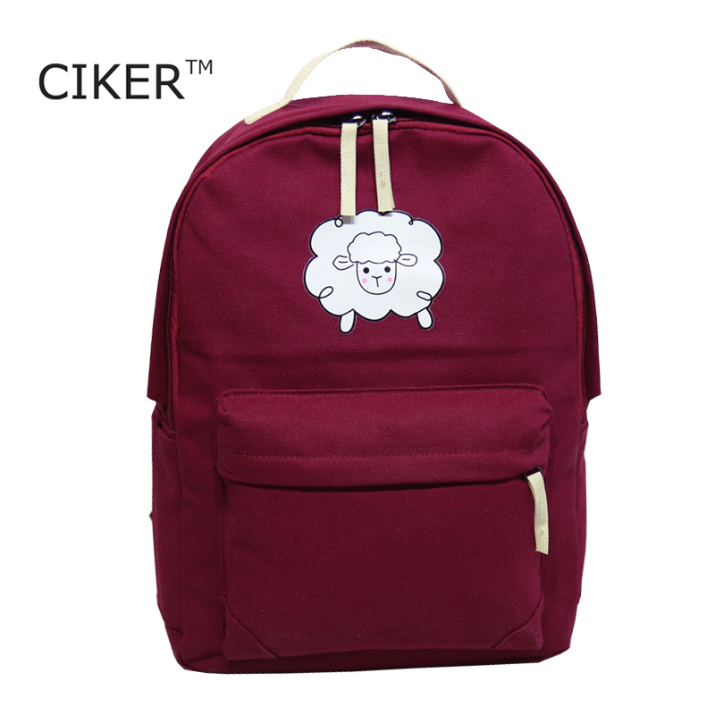 CIKER New 2017 Canvas Women backpack Big Capacity School Bags For Teenagers Sheep Printing Backpacks For Girls Mochila Escolar<br><br>Aliexpress