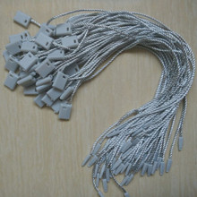 100 pcs/color Grey paper tags seal cords for clothing ropes Hang tag strings for dress