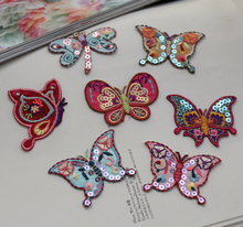 2017 NEW High quality 3D The Sequins butterfly pattern patch The embroidery patch DIY for Down jacket Bag skirt shoes(China)