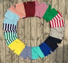 2017 new candy color knit cotton stripe solid baby children swim shorts wholesale boutique clothing summer soft kids boys shorts