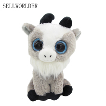 "SELLWORLDER WILD ANIMALS Big Eyes 6"" 15cm Goat Plush Animal Stuffed Toys(China)"