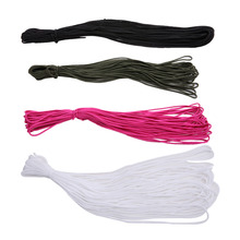4 Colors 50FT New Dia. 2mm One Stand Cores Paracord Parachute Cord Lanyard Rope For Climbing Camping