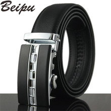 2017 Brand Belts Men High Quality Men's Belts Luxury Automatic Buckle Leather Belts For Men Business Boss Cinturones Hombre