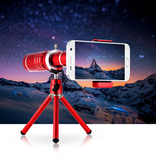 Universal 18X Zoom Phone Lens for iPhone Samsung HTC Mobile Phone Telephoto Camera Lens with Mini Tripod Photography Accessory(China)