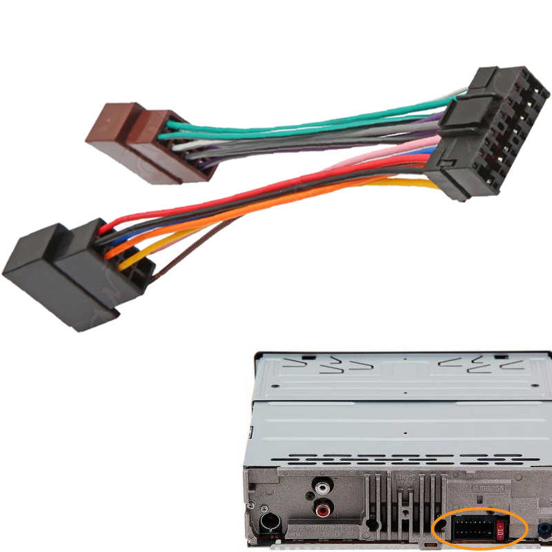 ISO Car radio Adapter Wiring Harness for SONY CDX GT35U ... Iso Wiring Harness Connector Adaptor For Kenwood Pin on