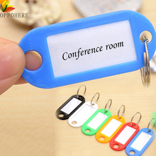 OPPOHERE 10PCS Plastic Key Tags Assorted Key Rings ID Tags Name Card Fob Label New